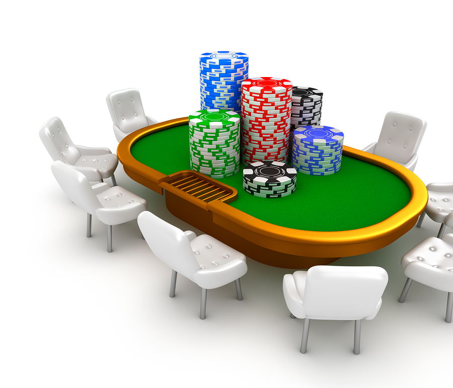 bigstock Gambling poker table with chai 40943983 Pokerbord